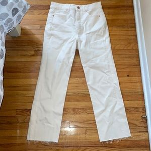 Express straight High rise jeans. Slight stain on thigh as shown